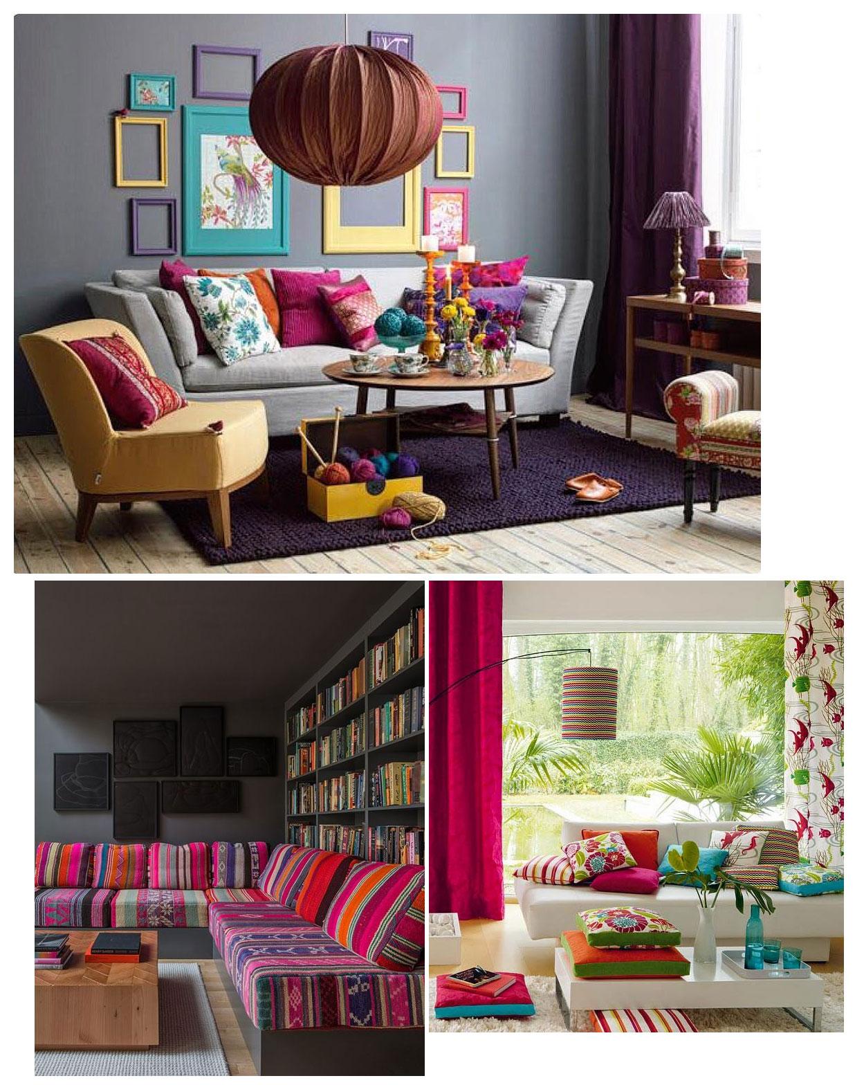 Как да имаш цветен дом, без да се налага да (пре)боядисваш стените