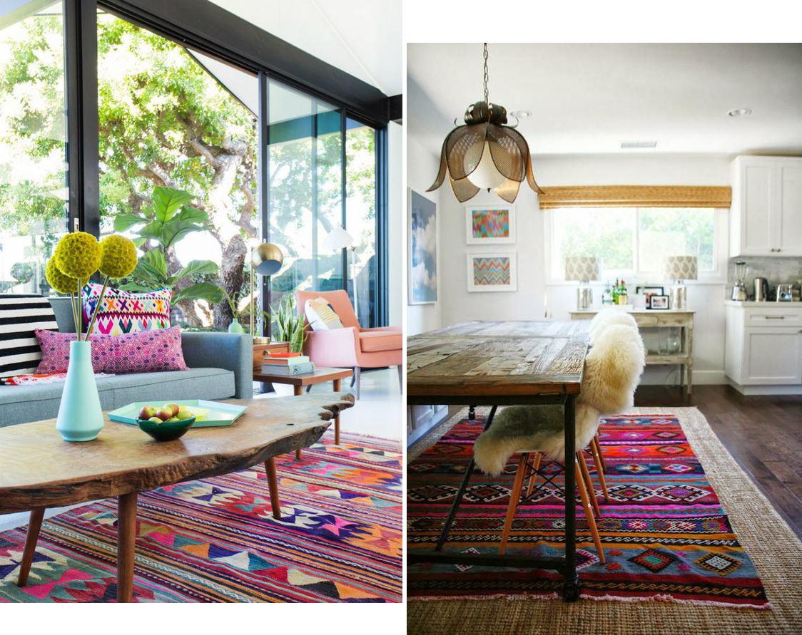 Как да съчетаем два и повече килима в едно отворено пространство